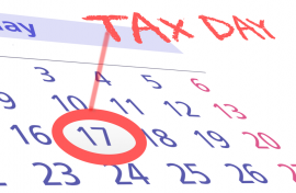 TAX DAY EXTENDED TO MAY 17